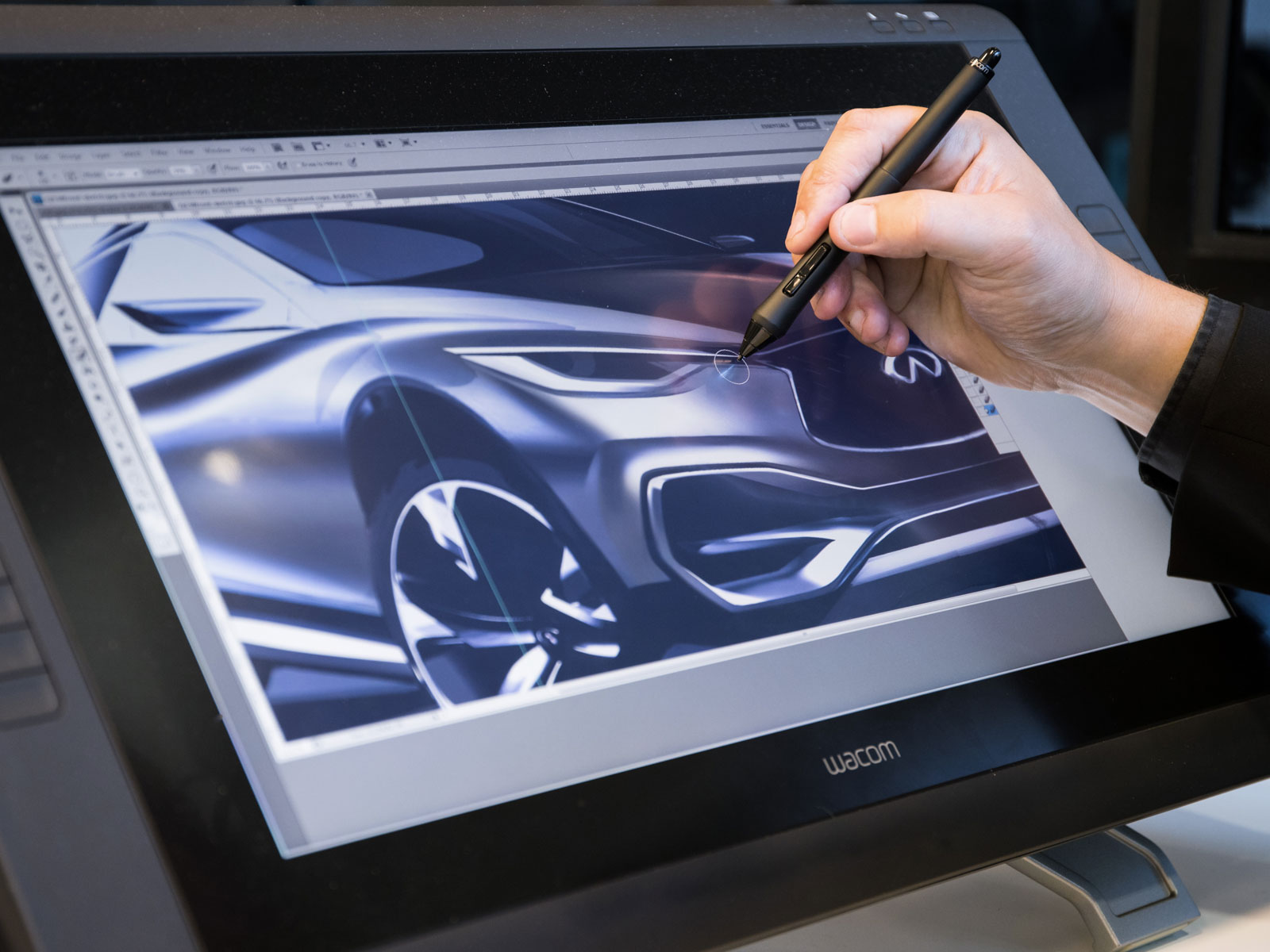Color Design at Infiniti Design Sketching on the Wacom Cintiq