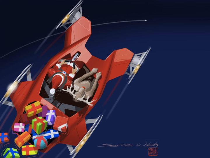 Santa s Seligh Concept by Bernie Walsh