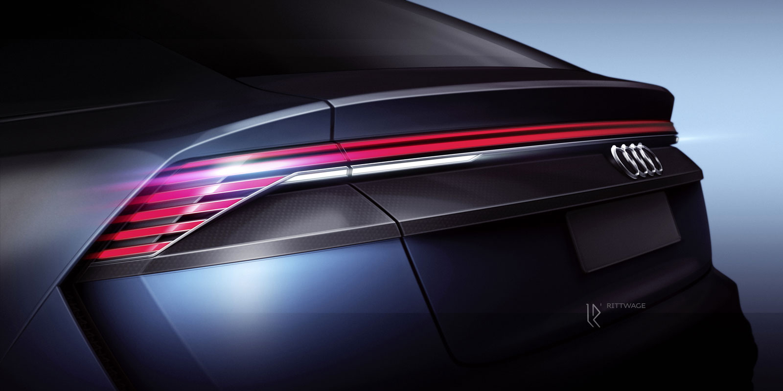 Audi Q8 Concept Design Sketch Tail Lights