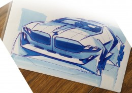BMW Concept Design Sketch by Piano Kedzierski