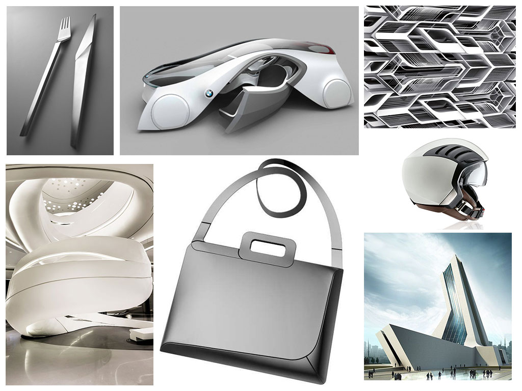 Futuristic Design Mood Board Car Body Design