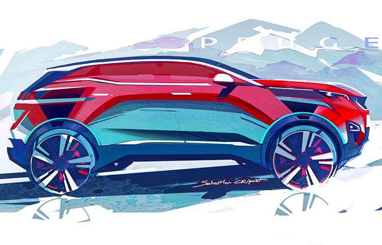 Peugeot 3008 Design Sketch By Sebastien Criquet Car Body