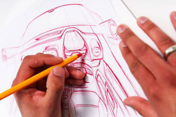 Renault Interior design sketching