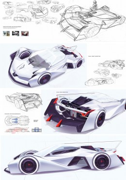 Audi LeMans Concept by Donghun Joung - Design Sketches