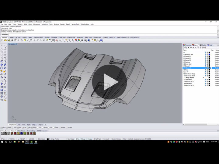 Engine Cover 3D modeling tutorial – Part 2