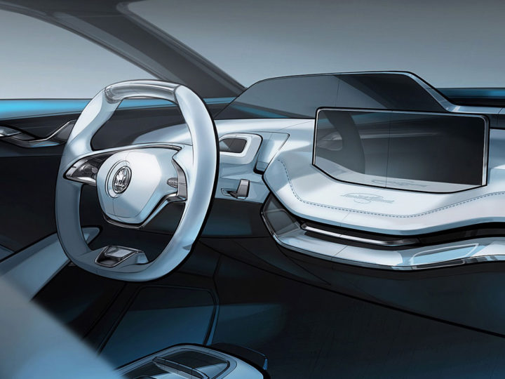 Škoda previews Vision E Concept interior ahead of Shanghai debut