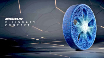 Michelin airless 3D printed Vision tire concept