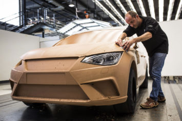 New Seat Ibiza Design Process Clay modeling