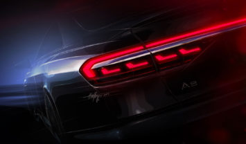 Audi A8 Tail Light Design Sketch Render