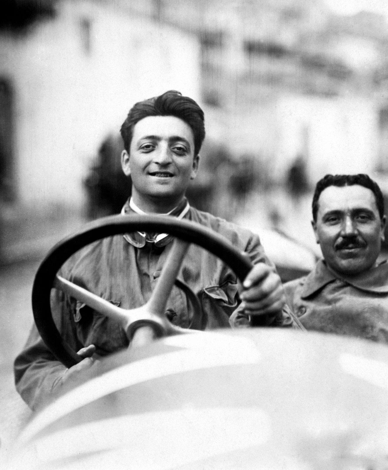 Enzo Ferrari At The Targa Florio In 1920 The Car Is An Alfa Romeo 40 60 Hp Racing Type Car Body Design