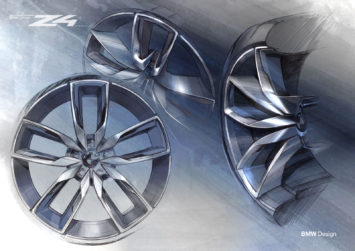 BMW Concept Z4 Wheel Design Sketch Render