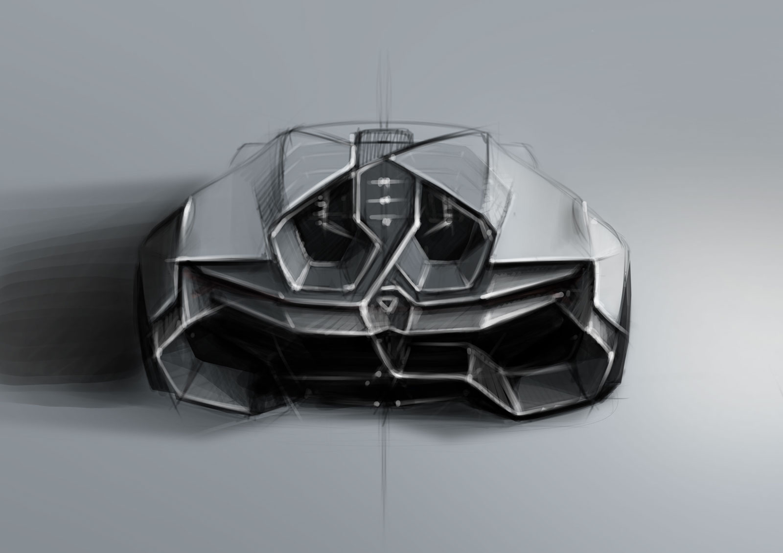 Lamborghini Encierro Concept Design Sketch Car Body Design