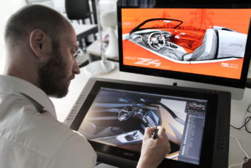 BMW Concept Z4 Design Process Design Sketching on the Cintiq