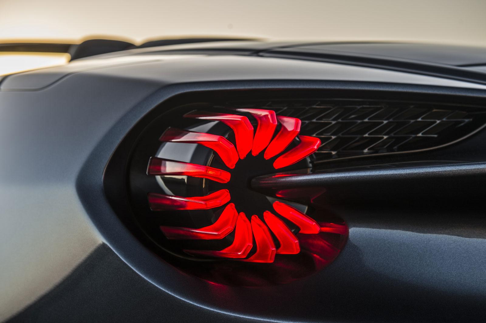 Aston Martin Vanquish Zagato Volante Tail Light Car Body Design