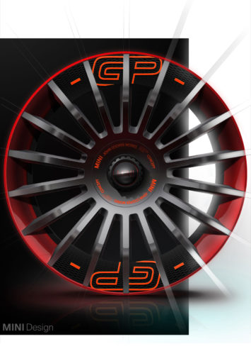 MINI John Cooper Works GP Concept Wheel Design Sketch Render