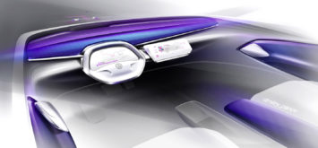 Volkswagen I.D. CROZZ Concept Interior Design Sketch
