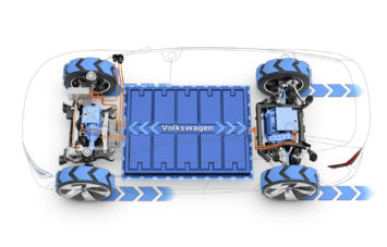 Volkswagen I.D. CROZZ Concept EV Powertrain Tech Illustration