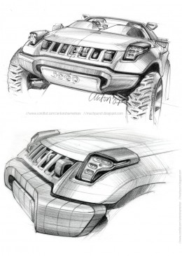 2008 Jeep Renegade Concept by Anton Shamenkov - Design Sketches