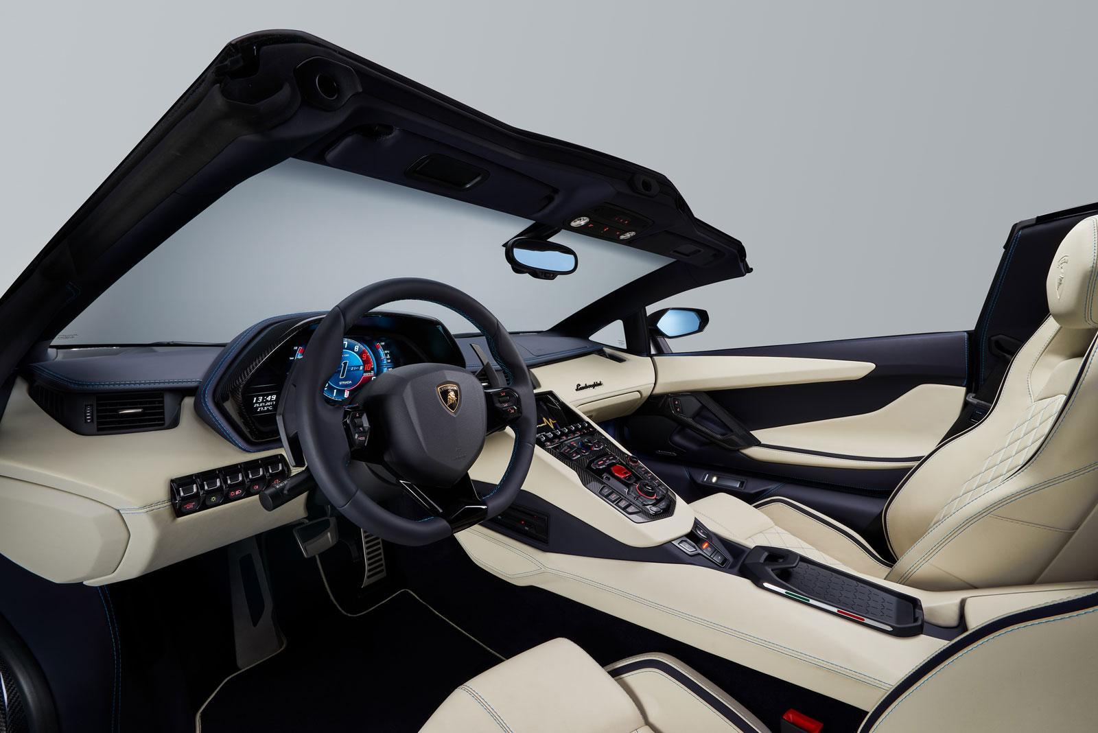 Lamborghini Aventador S Roadster Interior Car Body Design