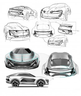 Alpine SUV Concept Design Sketches by Rashid Tagirov