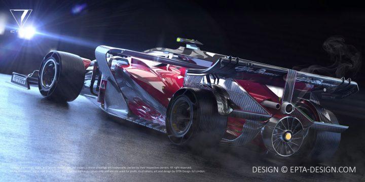 alfa romeo 2018 brabham evo f1 concept - car body design