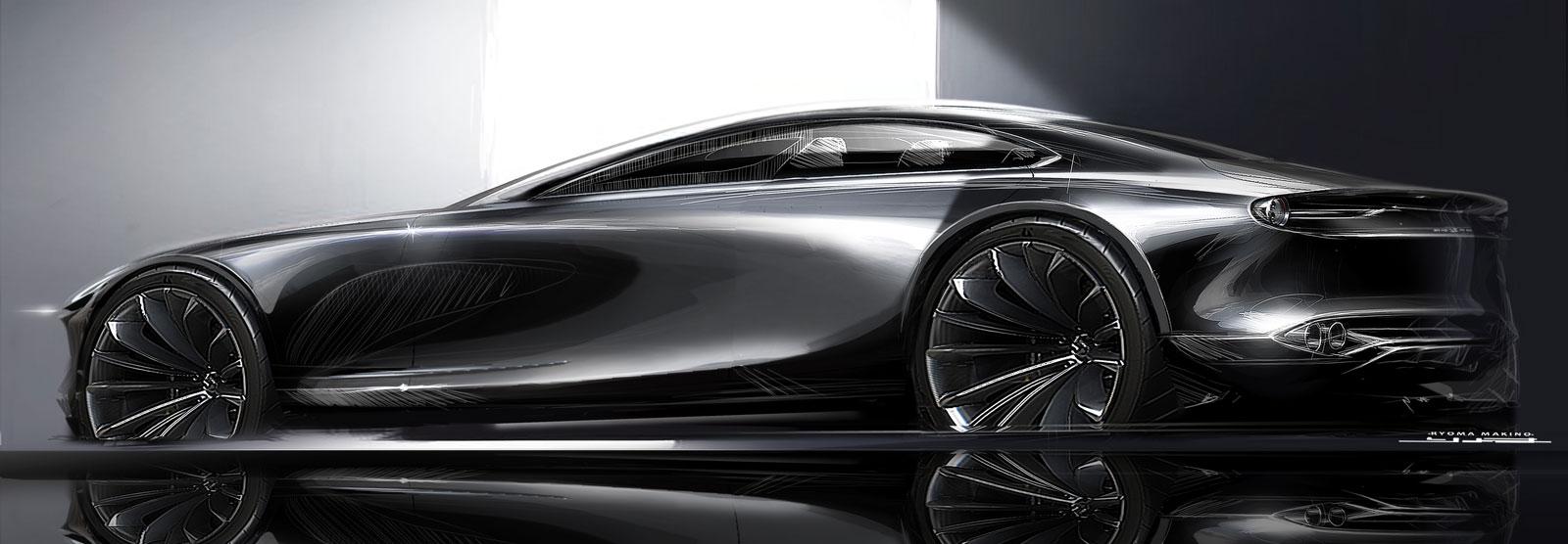 Mazda Vision Coupe Concept Design Sketch Render Car Body