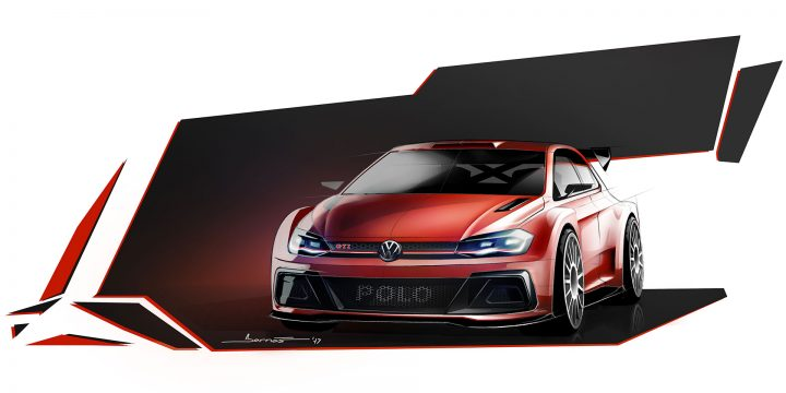 Volkswagen Polo GTI R5 Design Sketch Render