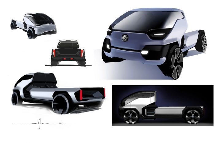Volkswagen Type 10 PickUp Concept Design Sketch Renders