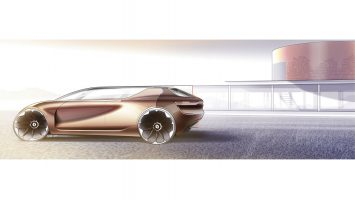 Renault Symbioz Concept and House Design Sketch Render by Joe Reeve
