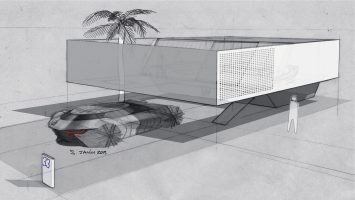 Renault Symbioz Concept and House Design Sketches by Stephane Janin
