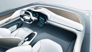 Renault Symbioz Concept Interior Design Sketch Render by Vincent Turpin