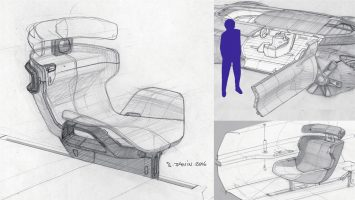 Renault Symbioz Concept Interior Design Sketches by Stephane Janin