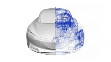 Renault Symbioz Concept CAD Wireframe and NURBS model