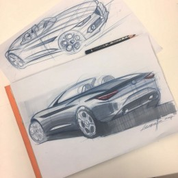 Alfa Romeo Spider Design Sketch by Michele Leonello