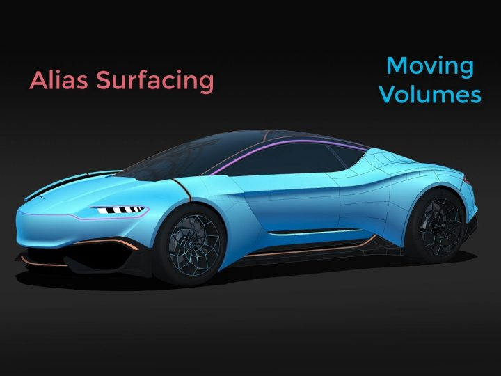 Autodesk Alias Surfacing: Moving Volumes - Car Body Design