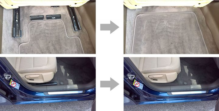 Innovative Front Seat Mounting System without rails Before and after