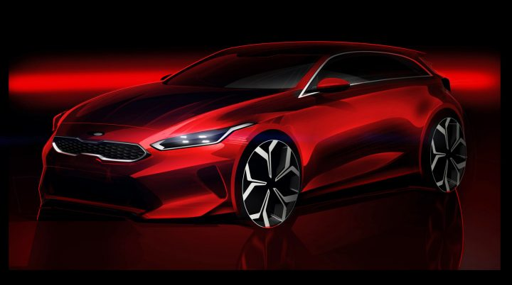 2018 Kia Ceed Design Sketch Render
