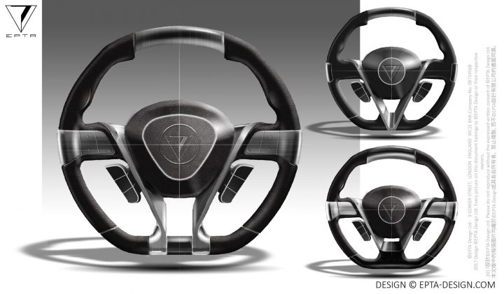 Epta Design Carmen Concept Steering Wheel Design Sketches