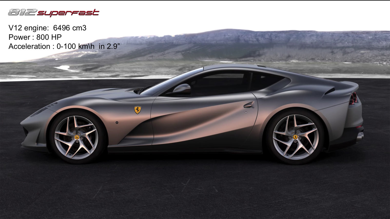 Ferrari 812 Superfast Car Body Design