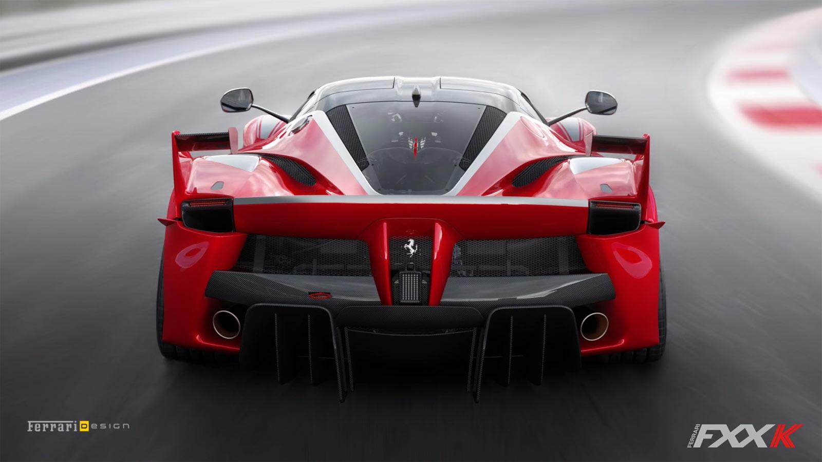 Ferrari Fxx K Rear End Car Body Design