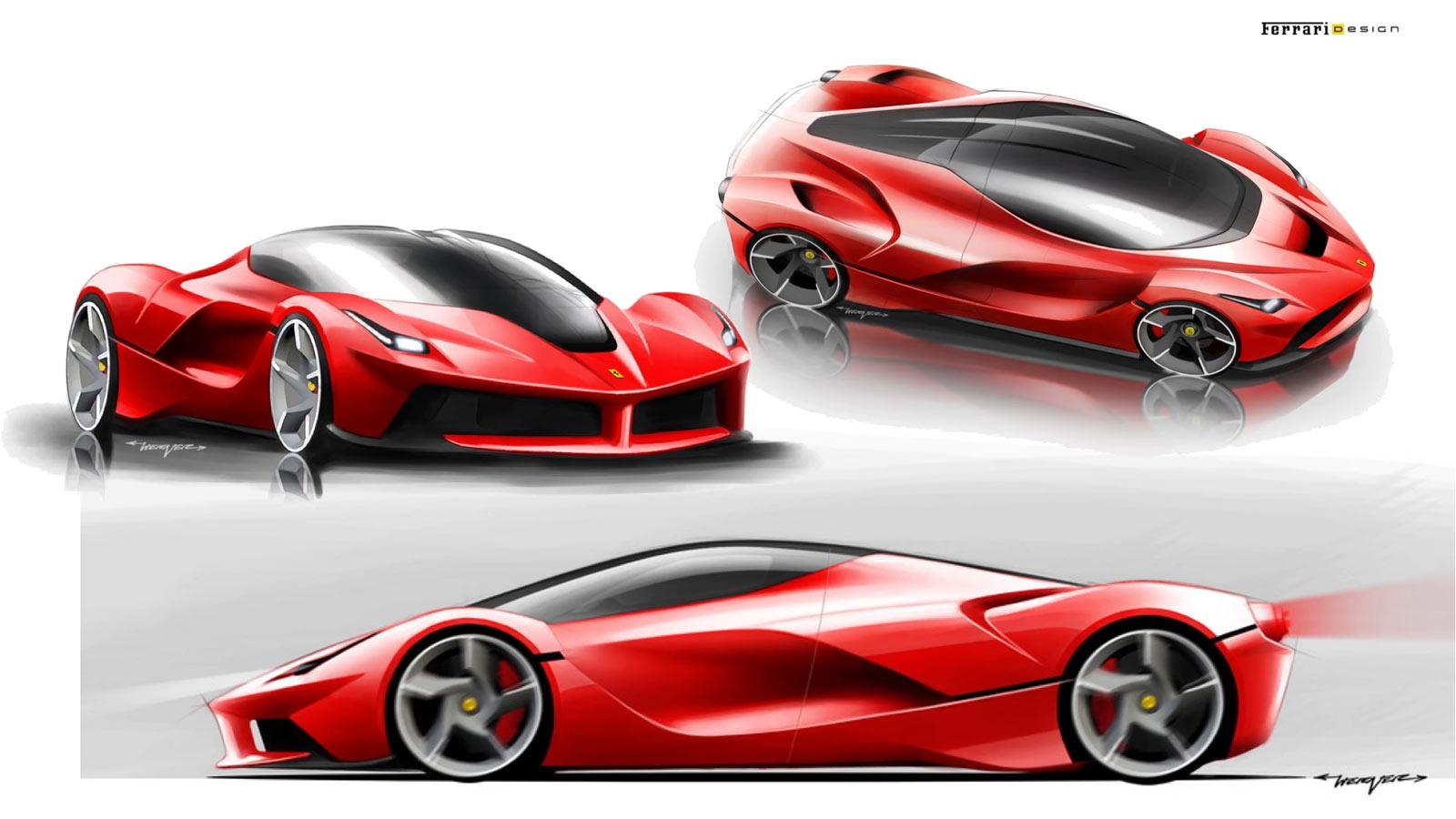 Ferrari458 Italia Design Sketch - Car Body Design |Ferrari Design Sketches