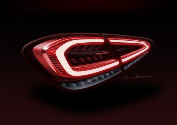Mercedes-Benz New A Class Tail Light Design Sketch Render