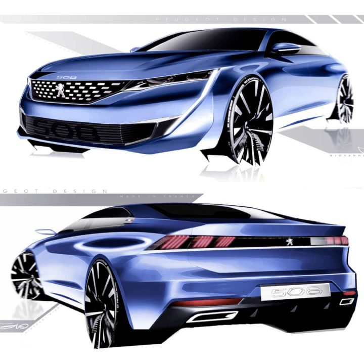 New Peugeot 508 Design Sketches by Giovanni Rizzo