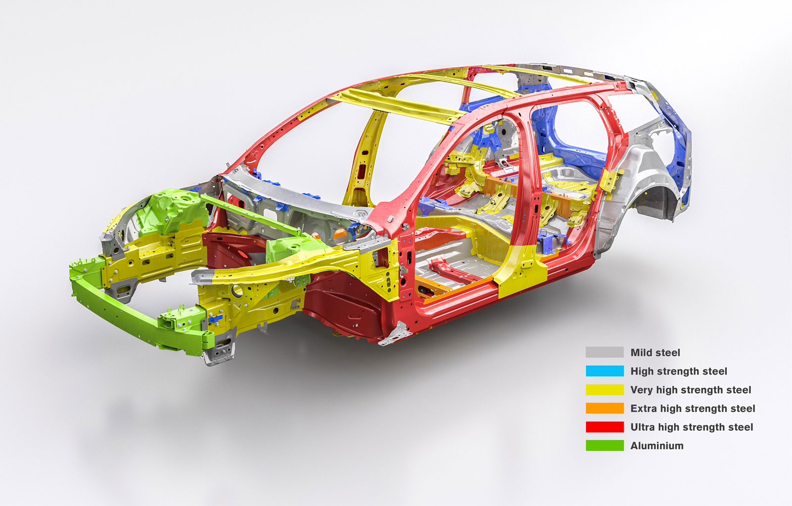 New Volvo V60 Body In White Safety Structure Car Body Design
