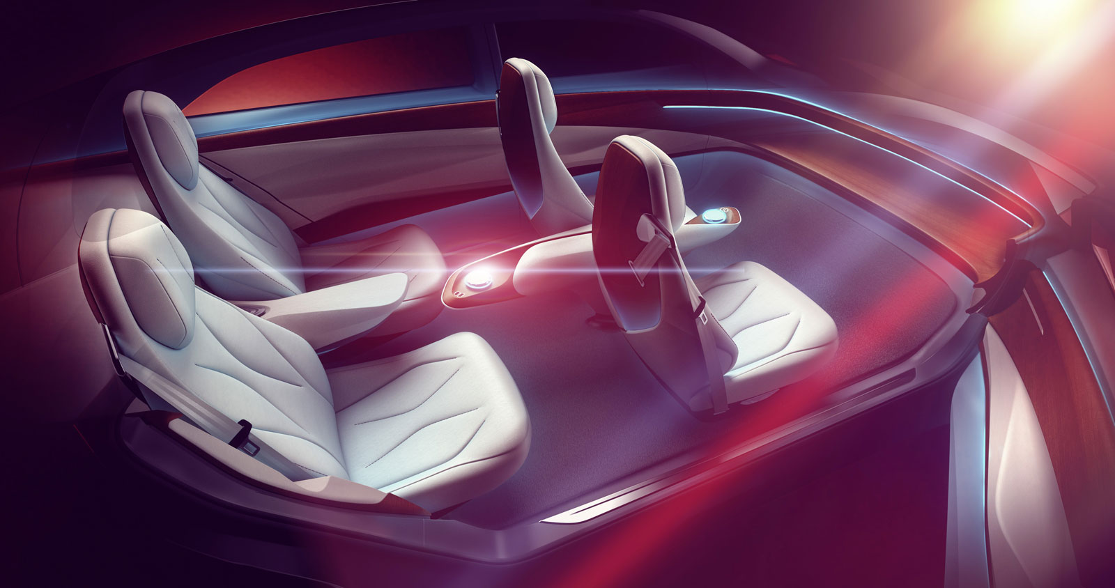Volkswagen I.D. Vizzion Concept Interior Design Sketch Render