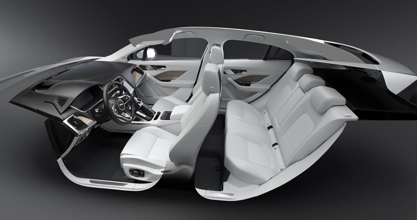Jaguar I Pace Interior Design Render Car Body Design