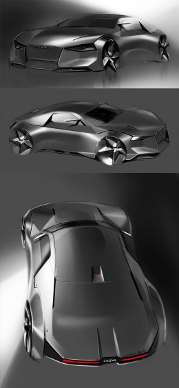 Audi Concept Design Sketches by HJ Lee