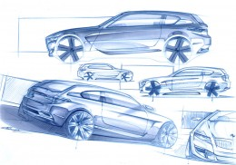 BMW Concept Design Sketches by Cyril Verbrugge, currently exterior designer at Porsche