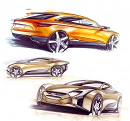 Hyundai Concept Marker Design Sketches by Konrad Cholewka