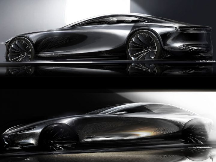Mazda Vision Coupe Concept Design Sketch Renders